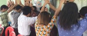ミャンマー技能実習生 出国送出しの様子