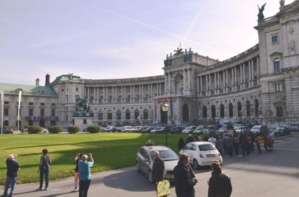Hofburg Palace ေဆာင္းရာသီ နန္းေတာ္ ၊ အေ႐ွ႕ဖက္ ျမင္ကြင္း ။
