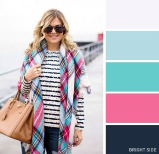 Mint pink checked textiles