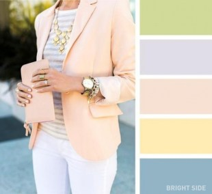 Pastel colours for a fresh look