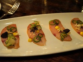 Hamachi – Asian Pear, Meyer Lemon, Yuzu, Serrano Chili