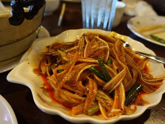 Grand Szechuan: Pork Ears in Chilli Sauce. Cartilagey, crunchy goodness.