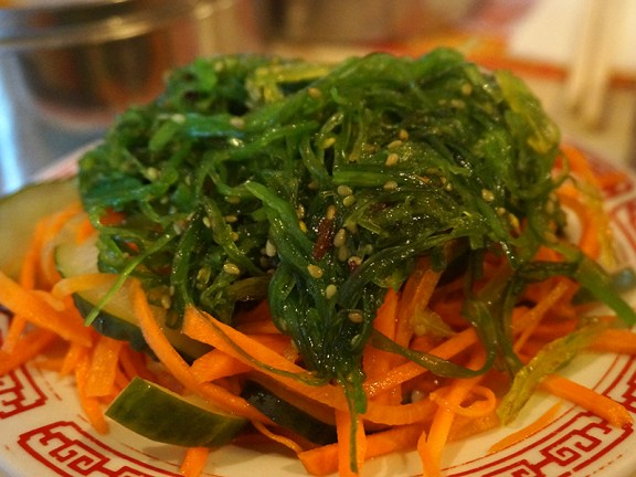 Yangtze: Cold, marinated seaweed. Quite nice.