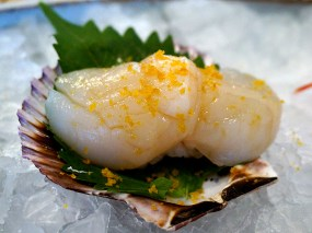Kiyokawa: Hotate (Japanese Scallop) with Bottarga