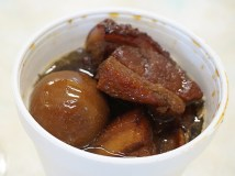As was this braised pork belly in a sweet sauce from Chai's Cooking.