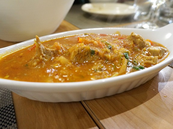 Pork curry in tamarind sauce. This was clearly different from the other two but really could have used more heat.