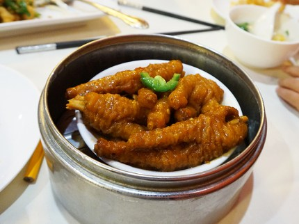 I was instructed to not order anything but regulation chicken feet in black bean sauce and so I did. And these were a paragon of the style.