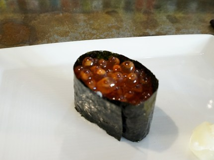 Of the salmon roe I will say that it was nowhere as bad as at Sushi Fix, but also not the best example of its kind.