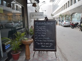 And the informal board advertising the fare. And no, no Minnesotan would have found this Delhi January cold...