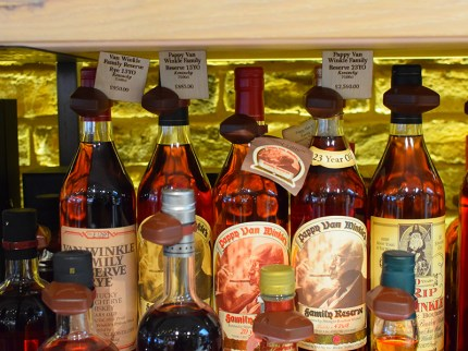 And Van Winkles---note the prices. There was also a shelf of BTAC bottles. Again, I don't mean to give the impression that Hedonism is a store only for the super-wealthy. They have regular bottles too and those are at pretty fair prices. And the staff couldn't have been more pleasant.