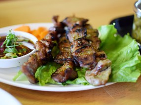 Four skewers to an order.