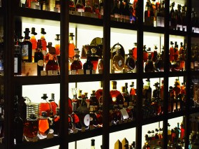 Behind that section are the super-premium brandies. Disappointingly, their Armagnac and Calvados selections were nothing to write home about either.