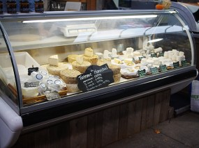 A selection of cheeses---I believe they specialize in cheese from Quebec.