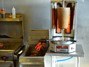 The gyro and deep-fry station.