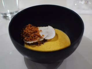 Hotel Herman: Lobster Bisque, sunchoke, chicken skin
