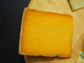 Oh man, this is good. Firm but yielding to the tooth and almost creamy as I chew: a mild flavour, nutty, slightly salty. No idiosyncratic notes, this just presents a quintessential cheesy cheesiness. That is a good thing.