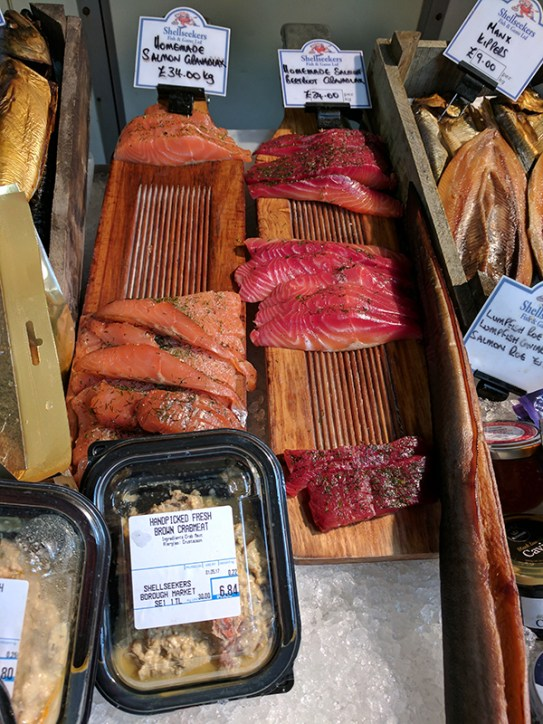Borough Market: Smoked Fish at Shell Seekers