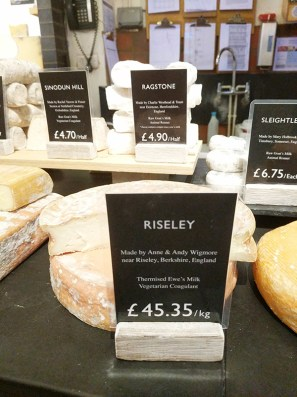 Neal's Yard Dairy, Covent Garden: Riseley