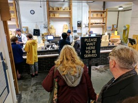 Neal's Yard Dairy, Borough Market: Queuing for Cheese