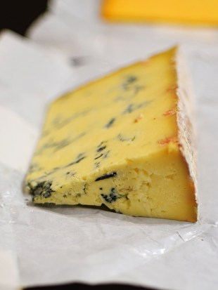 Stilton made in the old way with unpasteurized milk but for that reason unable to use the name. Just excellent.