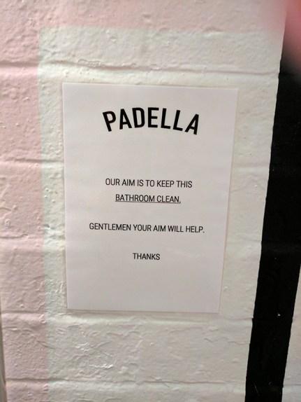 Padella: Encouragement for men