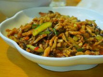 Another classic dish, often billed as fish flavoured or fish fragrant pork, this was quite good.