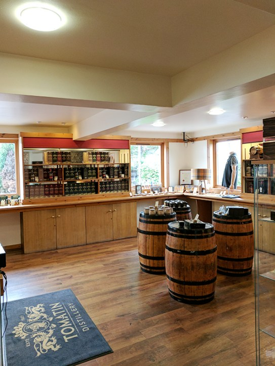 Tomatin: A view of the shop