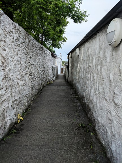 Laphroaig: Down this alleyway...
