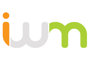 "it's worth more logo, composed of lowercase san-serif orange ""i"", grey ""w"" & light green ""m"" that interlock"