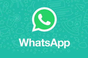WhatsApp Logo on green background