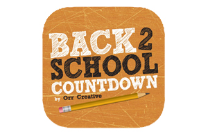 Back to School Countdown logo corkboard background wiht #2 pencil and title in chalkboard fontforegorund