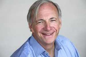 candid image of ray dalio smiling at the camera