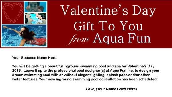 Valentine Voucher Aqua Fun