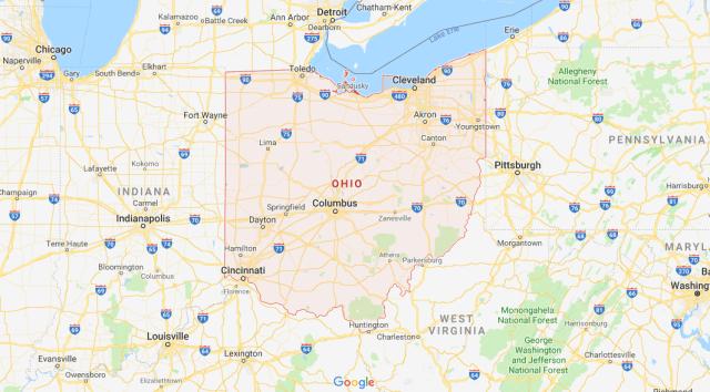 740 AREA CODE OHIO MAP