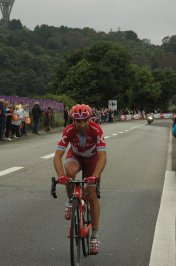 Joaquin Rodriguez alone on last climb Cherbourg