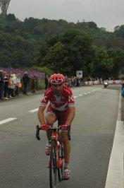 Joaquin Rodriguez alone on last climb Cherbourg