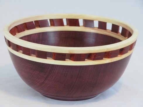 Purple Heart Wood Bowl