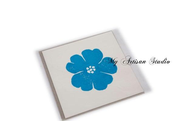 Blue flower gift card Ballarat