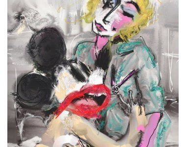 fauves painting of a couple