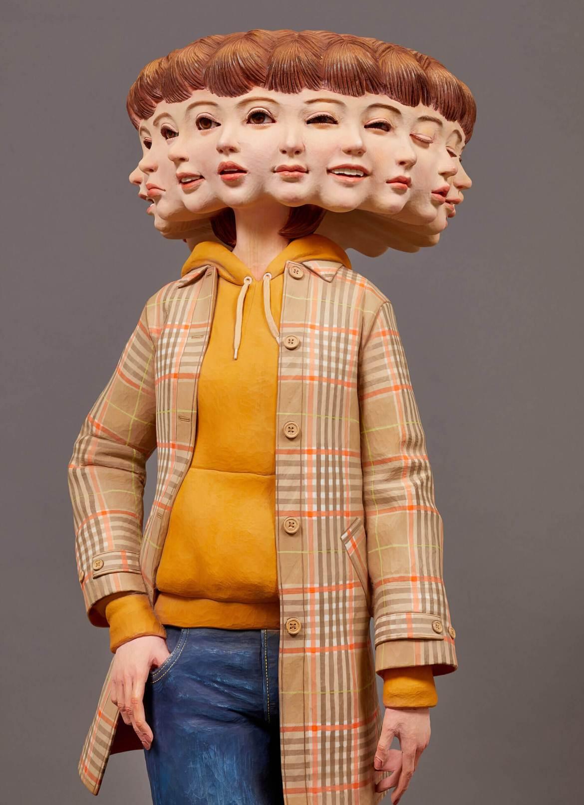 Wooden Sculpture by Yoshitoshi Kanemaki