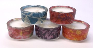 Glass Small Round Tealight Candle Holders