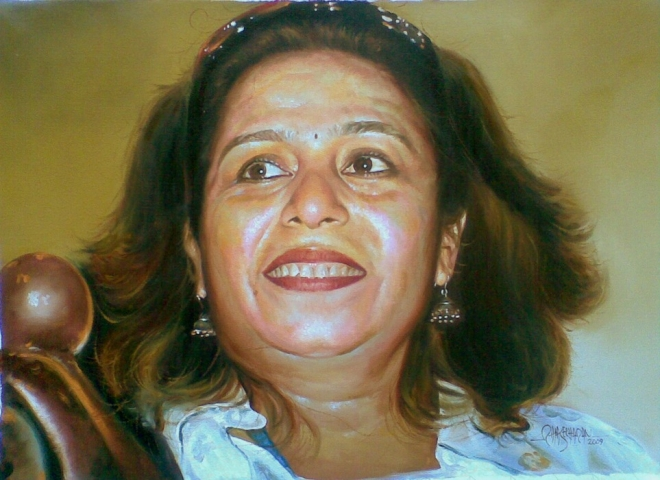 sunita kerala paintings rajasekharan