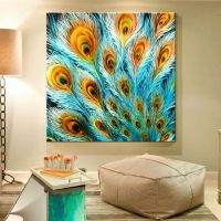 7 peacock wall art painting | Wall Art