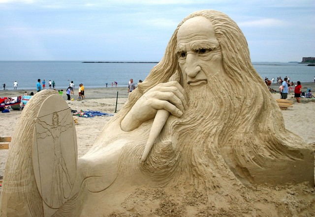 1. Beautiful Sand Sculpture