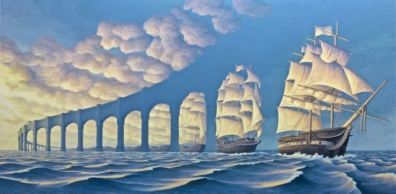 1. Rob Gonsalves Optical Illusion Painting