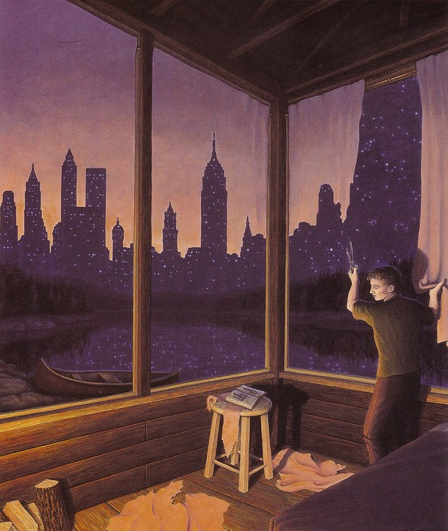 12. Rob Gonsalves Optical Illusion Painting