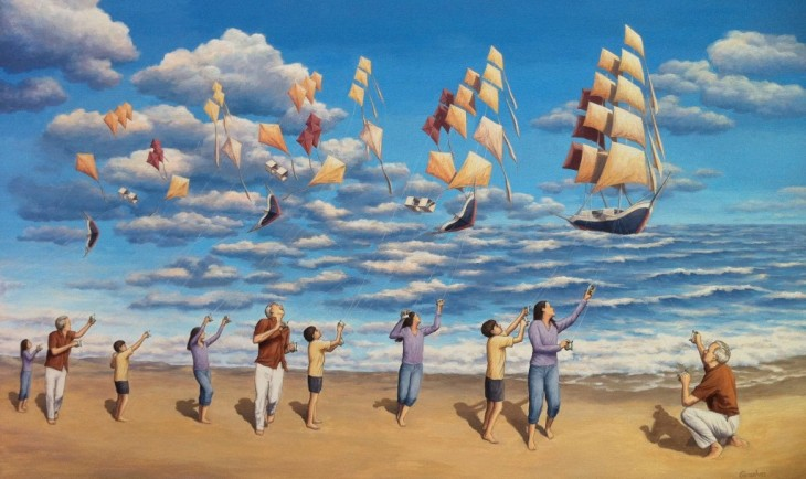 13. Rob Gonsalves Optical Illusion Painting
