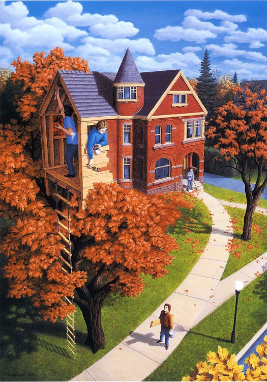 14. Rob Gonsalves Optical Illusion Painting