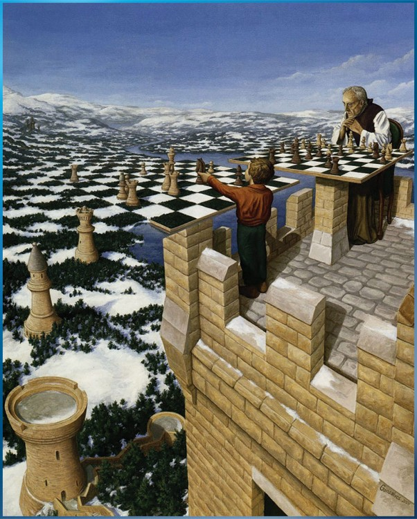 15. Rob Gonsalves Optical Illusion Painting