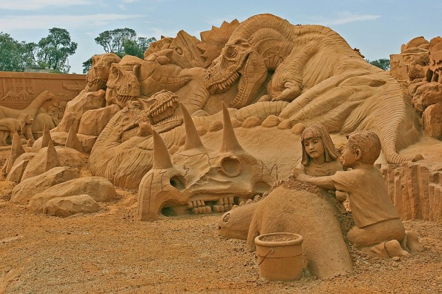 16. Beautiful Sand Sculpture